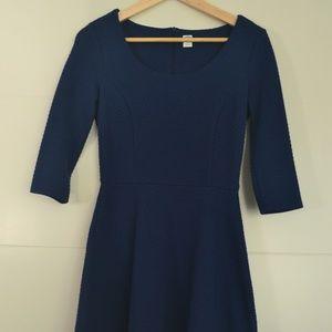 Dark Blue Old Navy 3/4 Length-Sleeved Dress